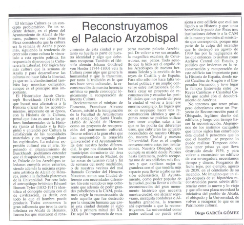 Reconstruyamos el Palacio Arzobispal (Puerta de Madrid 18-02-04)