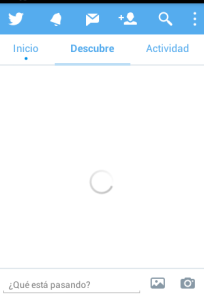 Twitter colgado en móvil
